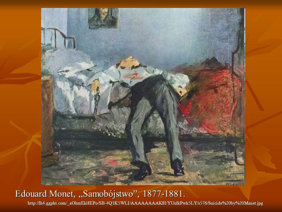 "Edouard Monet, ""Samobójstwo , 1877-1881."