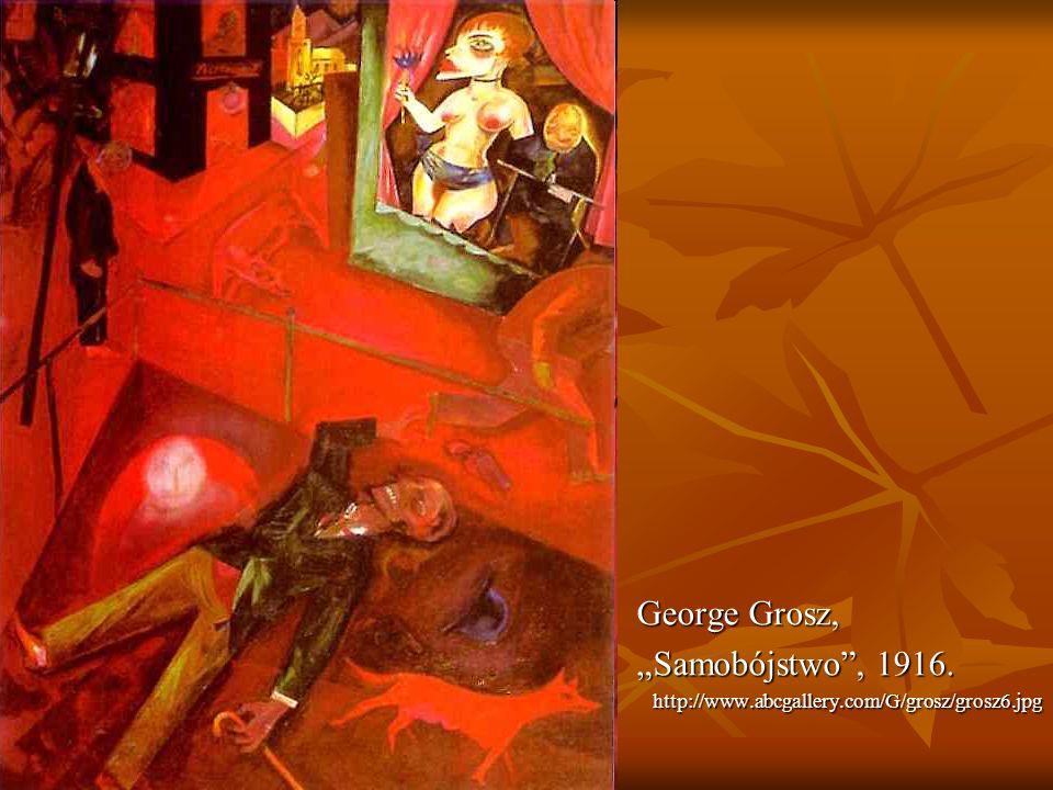 """George Grosz, """"Samobójstwo , 1916."""