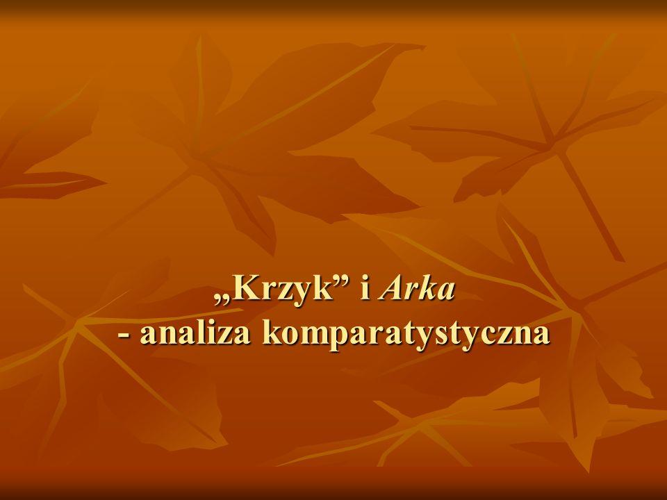 """""""Krzyk i Arka - analiza komparatystyczna"""