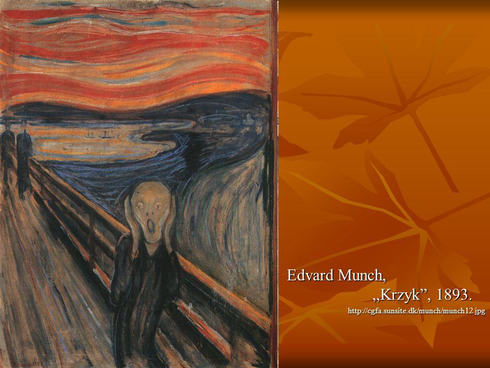 """Edvard Munch, """"Krzyk , 1893. http://cgfa.sunsite.dk/munch/munch12.jpg"""