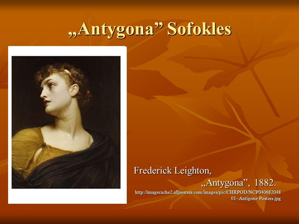 """Antygona Sofokles Frederick Leighton, ""Antygona , 1882."