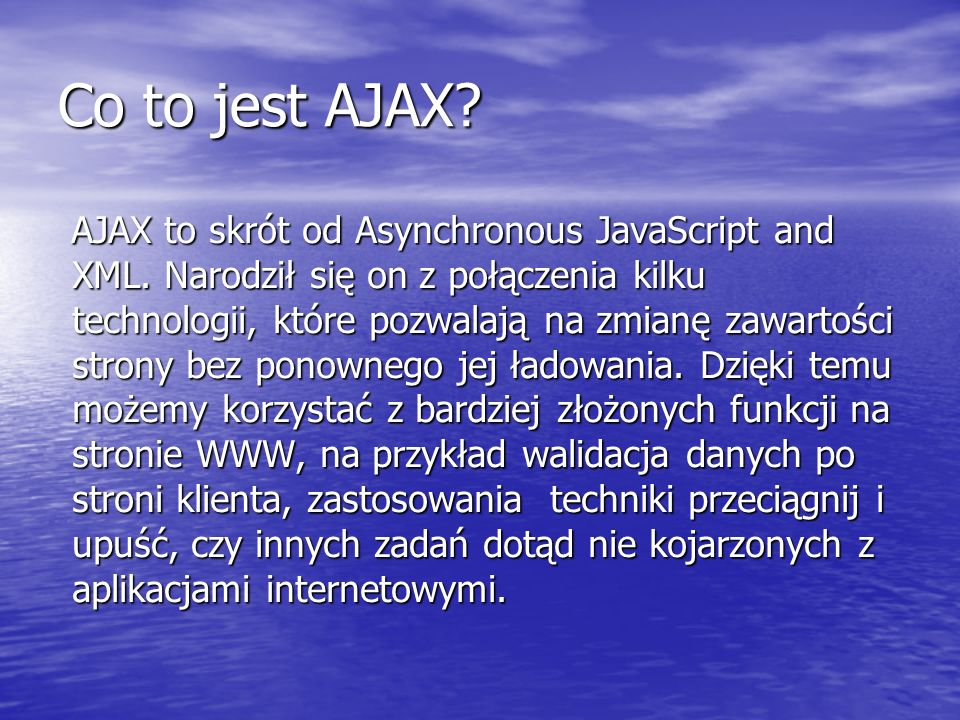 Co to jest AJAX