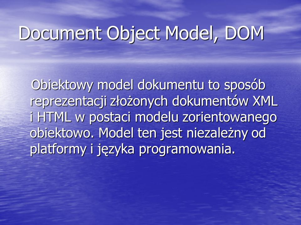 Document Object Model, DOM