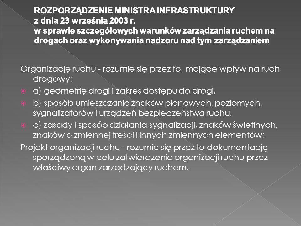ROZPORZĄDZENIE MINISTRA INFRASTRUKTURY z dnia 23 września 2003 r