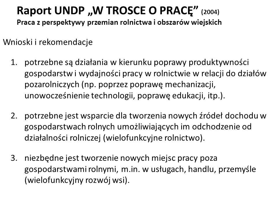 """Raport UNDP """"W TROSCE O PRACĘ (2004) Praca z perspektywy przemian rolnictwa i obszarów wiejskich"""