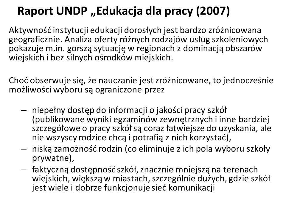 """Raport UNDP """"Edukacja dla pracy (2007)"""