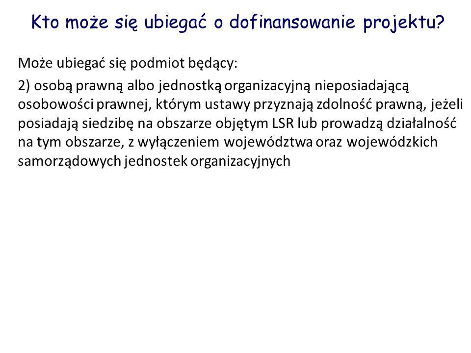 Kto może się ubiegać o dofinansowanie projektu
