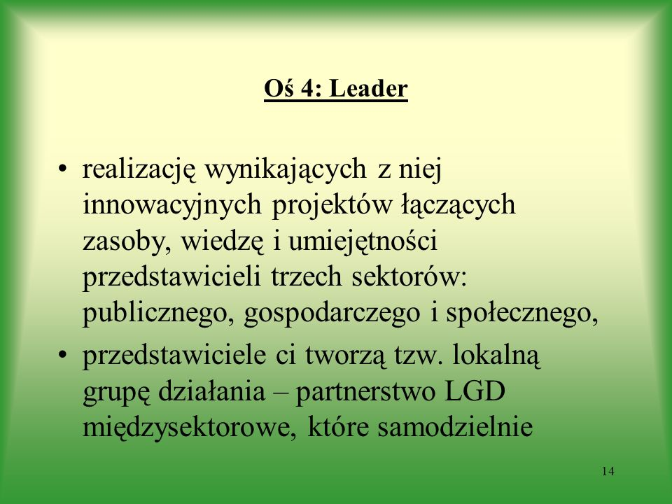 Oś 4: Leader