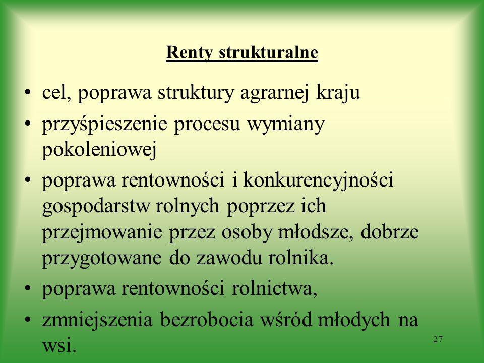 cel, poprawa struktury agrarnej kraju