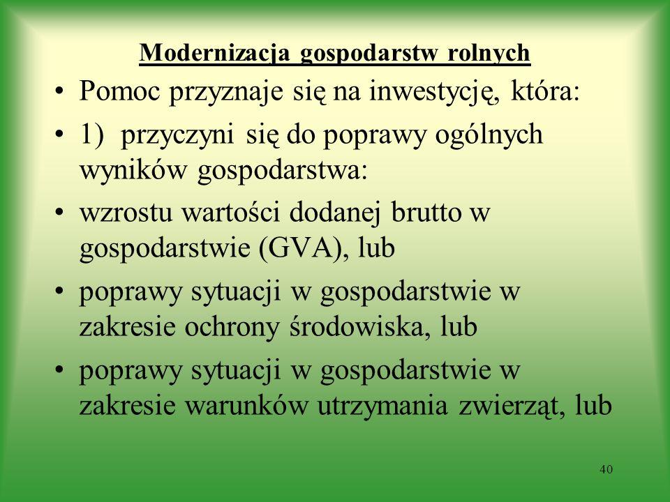 Modernizacja gospodarstw rolnych