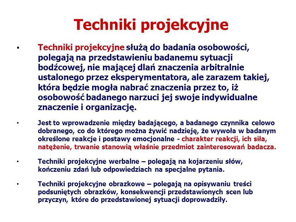 Techniki projekcyjne