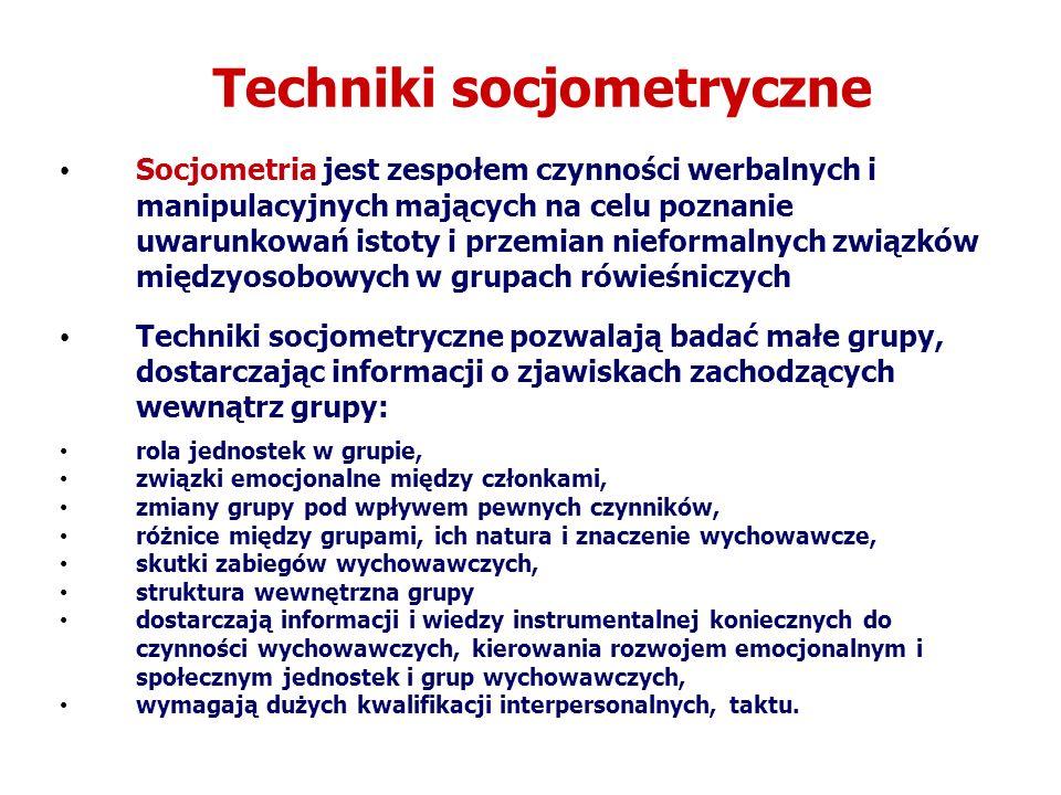 Techniki socjometryczne