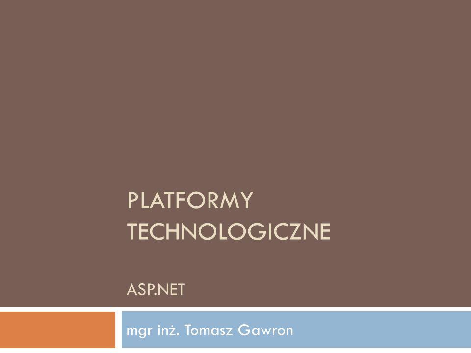 Platformy Technologiczne ASP.NET