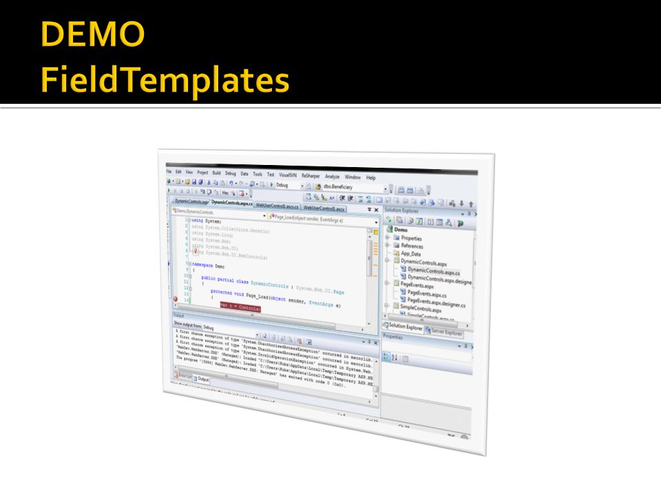 DEMO FieldTemplates