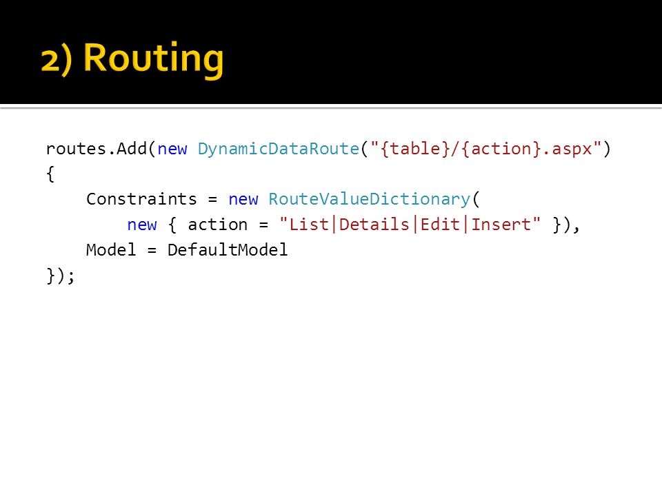 2) Routing