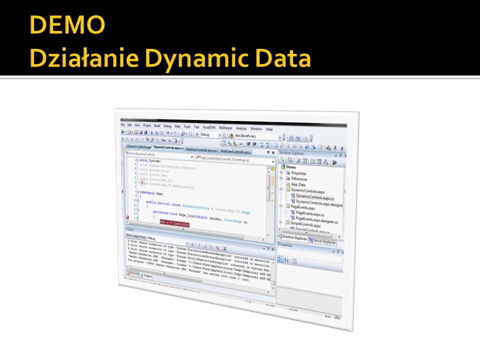 DEMO Działanie Dynamic Data