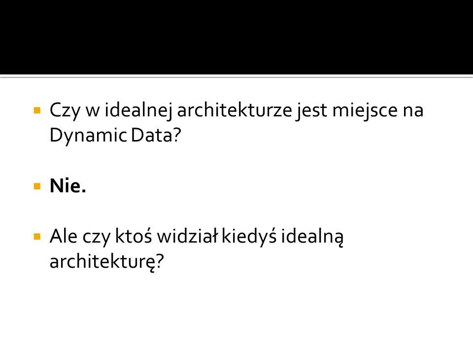 Czy w idealnej architekturze jest miejsce na Dynamic Data