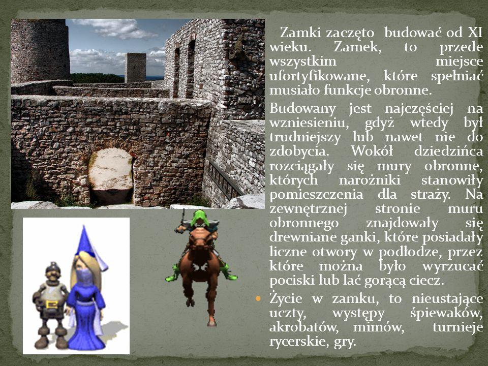 Zamki zaczęto budować od XI wieku