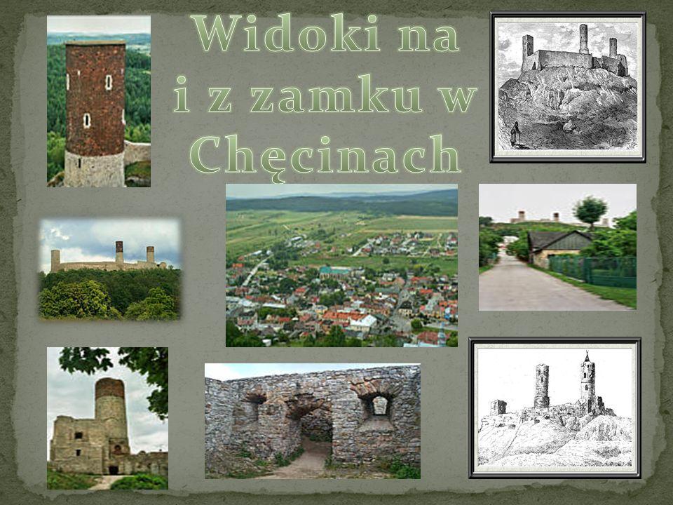 Widoki na i z zamku w Chęcinach