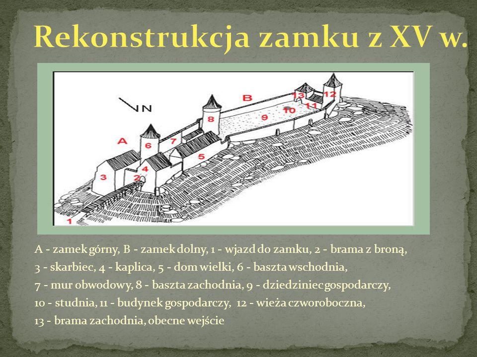Rekonstrukcja zamku z XV w.