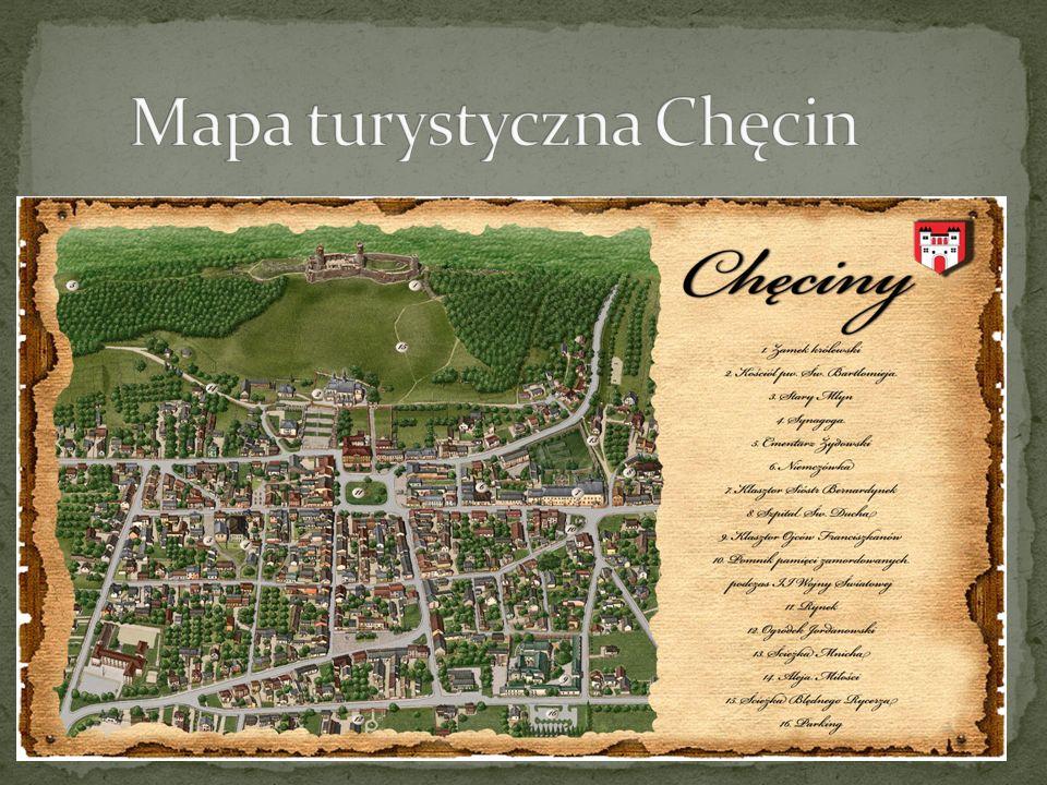 Mapa turystyczna Chęcin