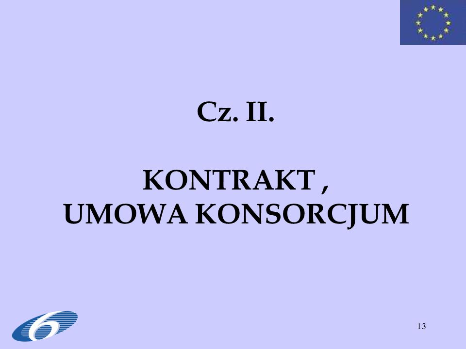 Cz. II. KONTRAKT , UMOWA KONSORCJUM