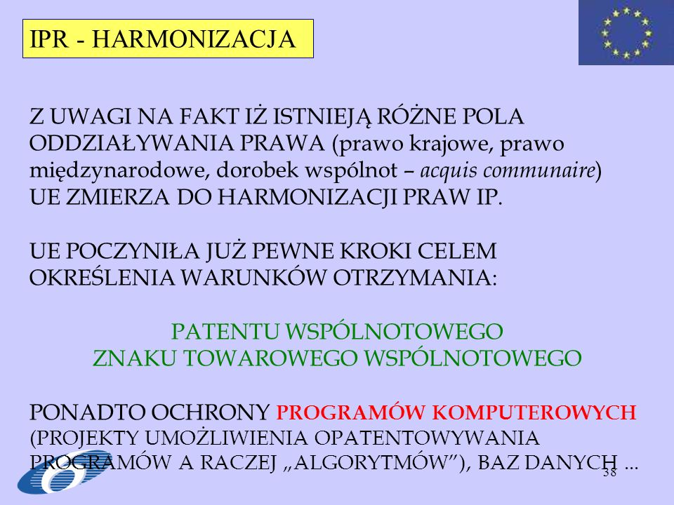 IPR - HARMONIZACJA