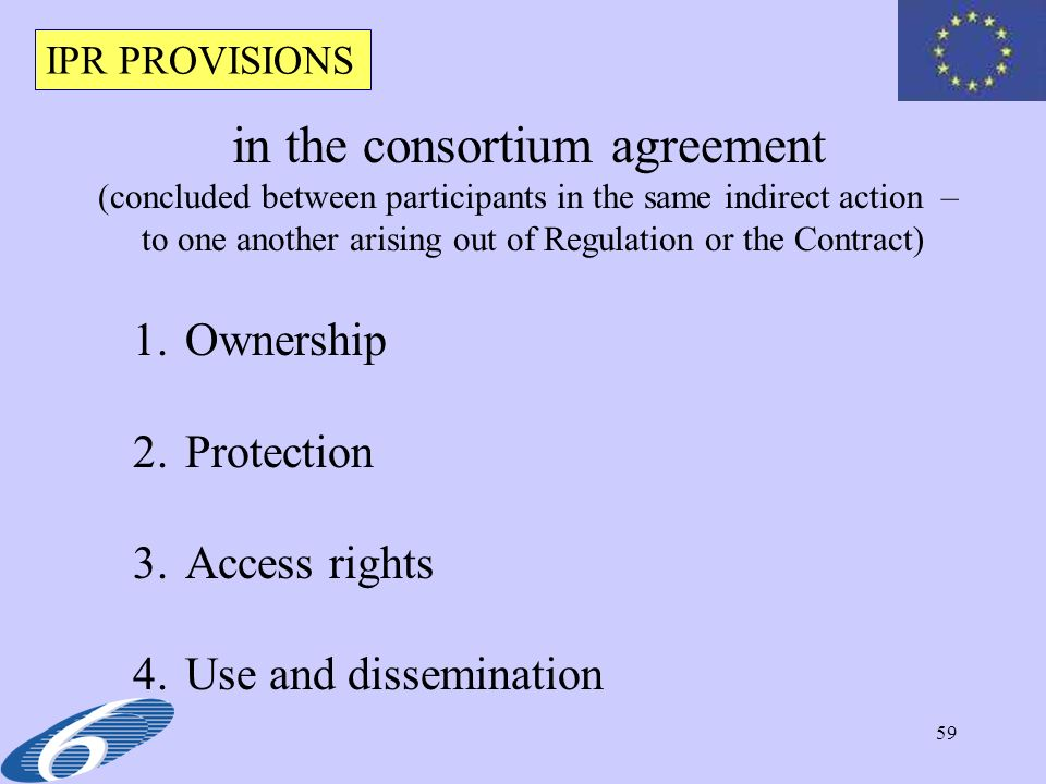 in the consortium agreement
