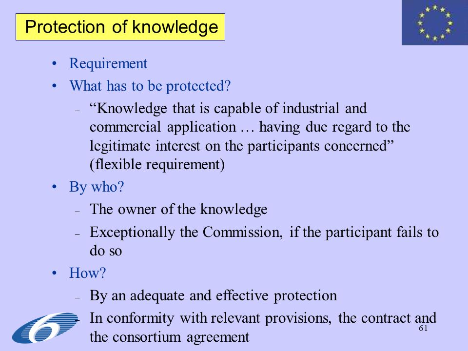 Protection of knowledge