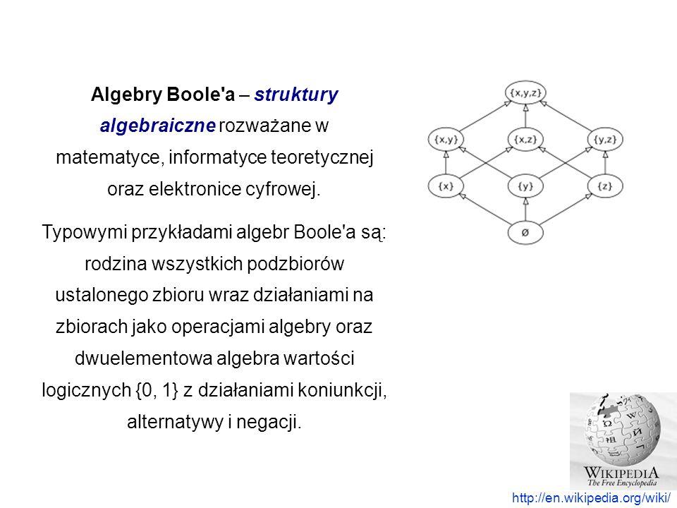 Algebry Boole a – struktury algebraiczne rozważane w matematyce, informatyce teoretycznej oraz elektronice cyfrowej.