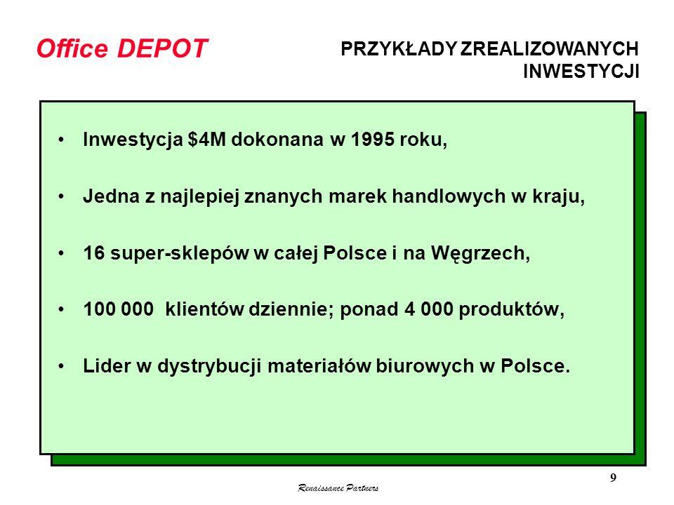 Office DEPOT Inwestycja $4M dokonana w 1995 roku,
