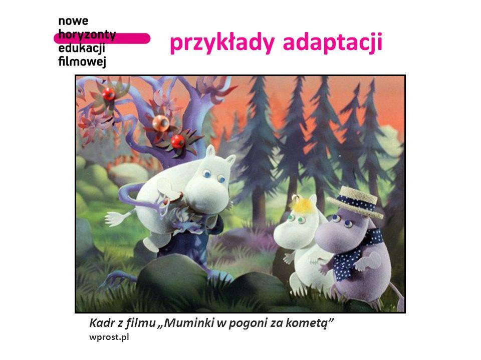 """przykłady adaptacji Kadr z filmu """"Muminki w pogoni za kometą"""