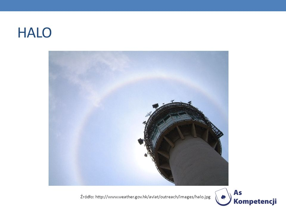 HALO Źródło: http://www.weather.gov.hk/aviat/outreach/images/halo.jpg