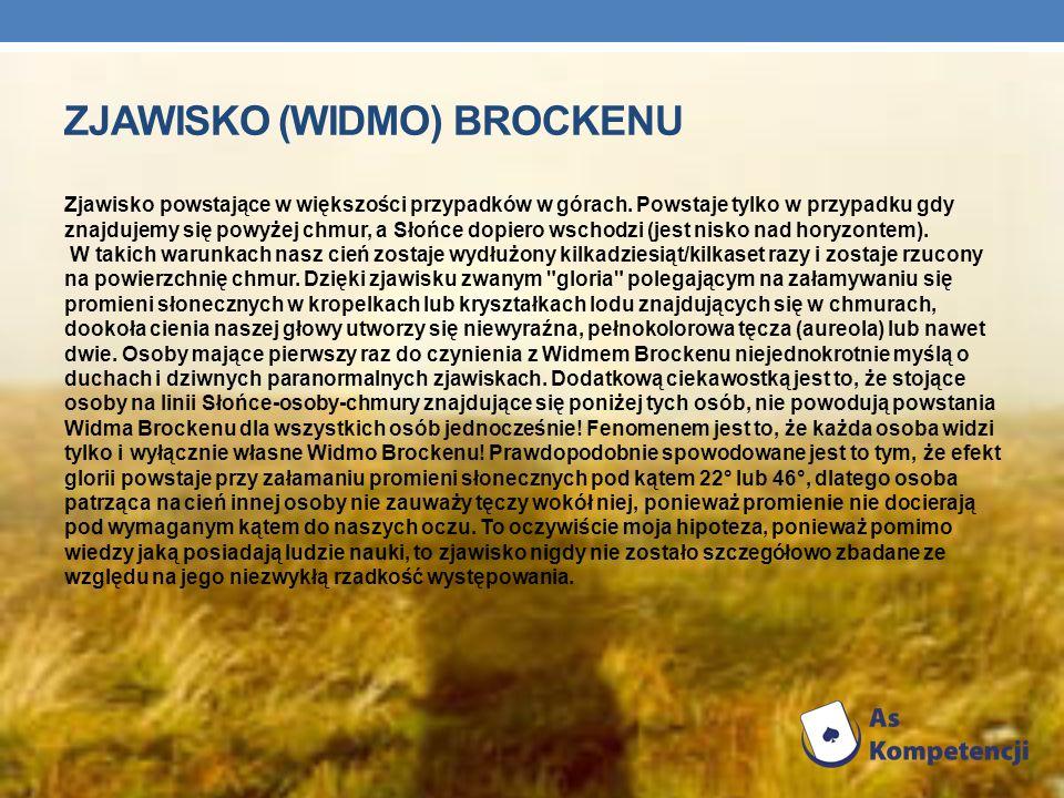 ZJAWISKO (WiDMO) BROCKENU