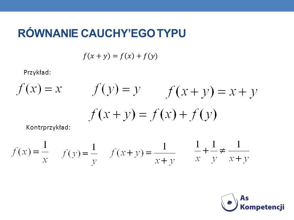 Równanie cauchy'ego typu