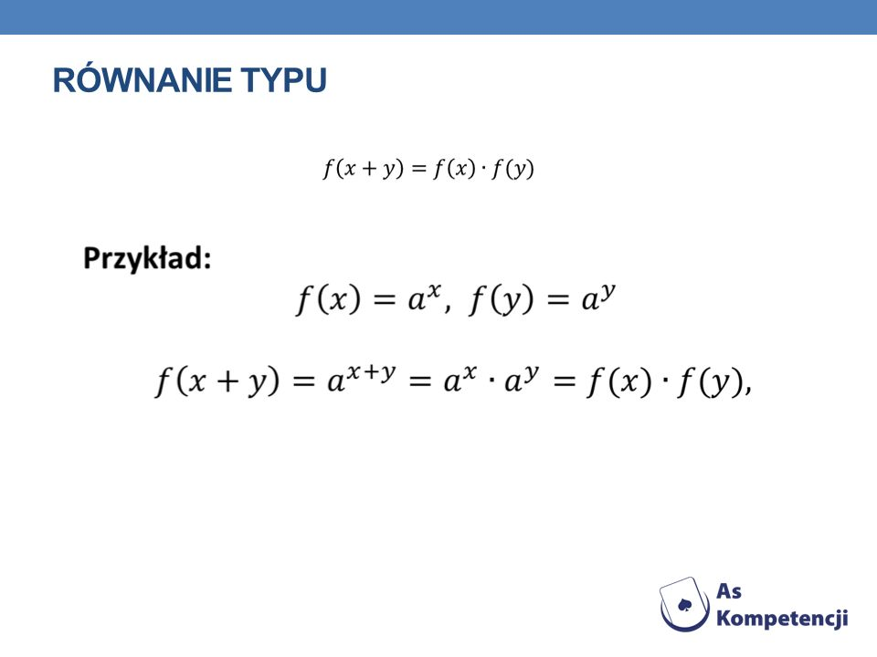 Równanie typu