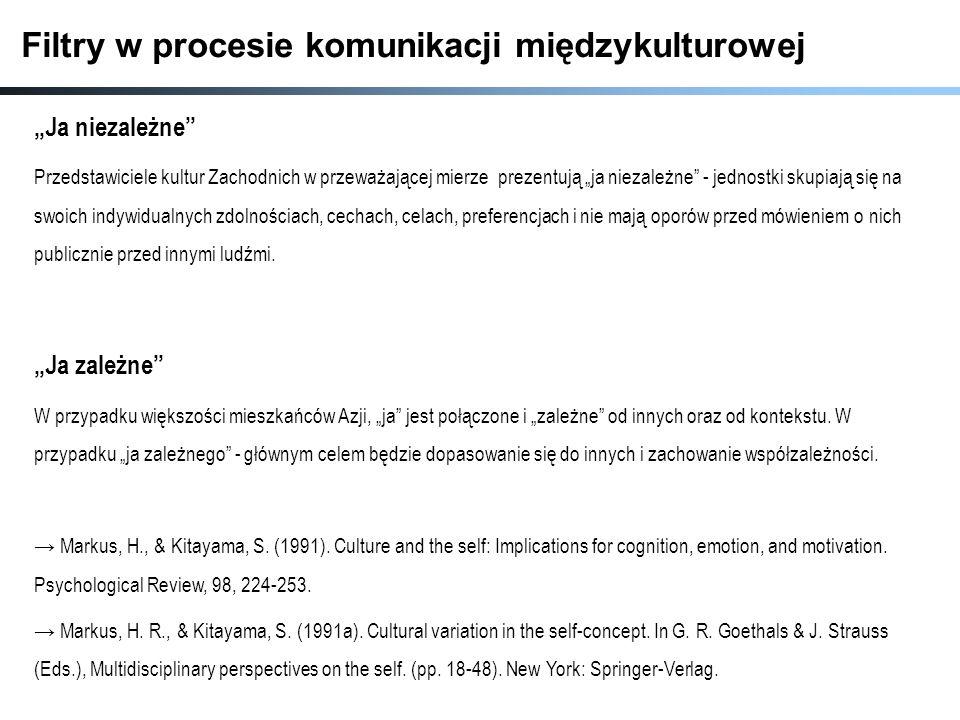 Filtry w procesie komunikacji międzykulturowej