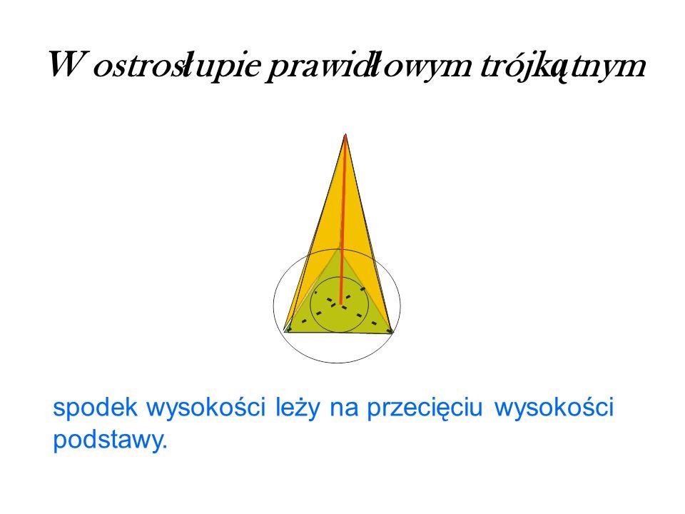 W ostrosłupie prawidłowym trójkątnym