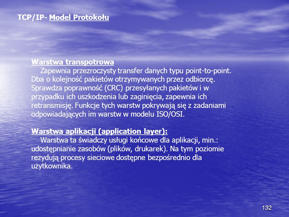 TCP/IP- Model Protokołu