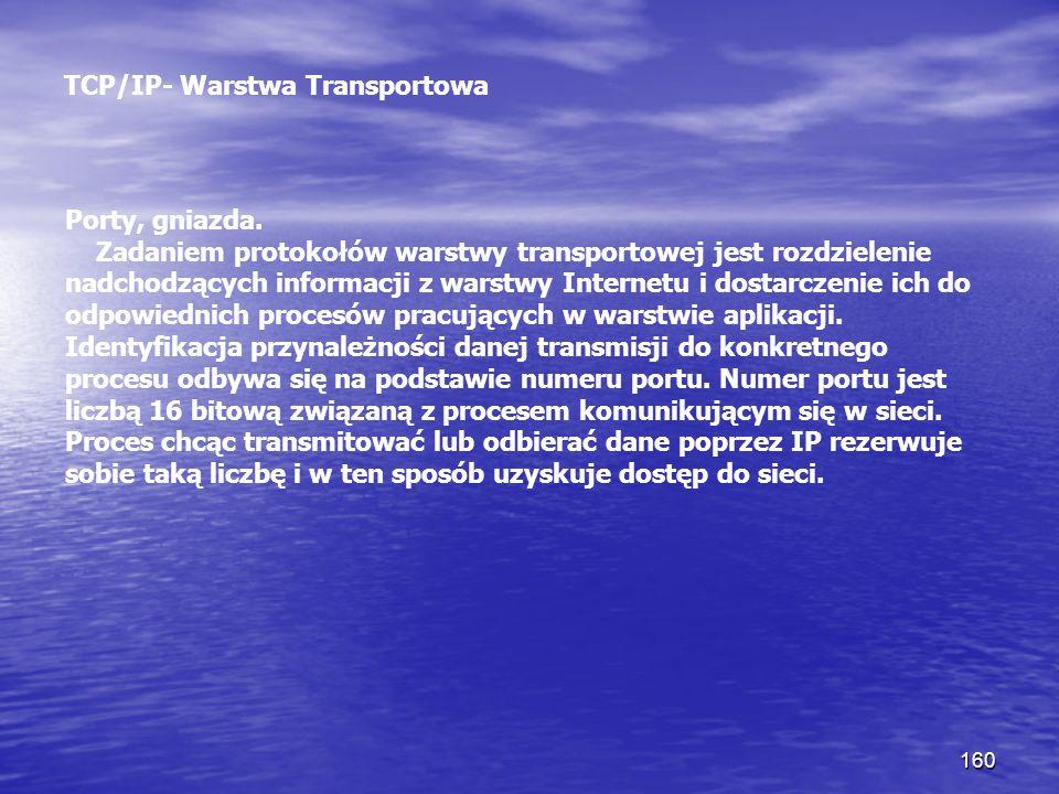 TCP/IP- Warstwa Transportowa