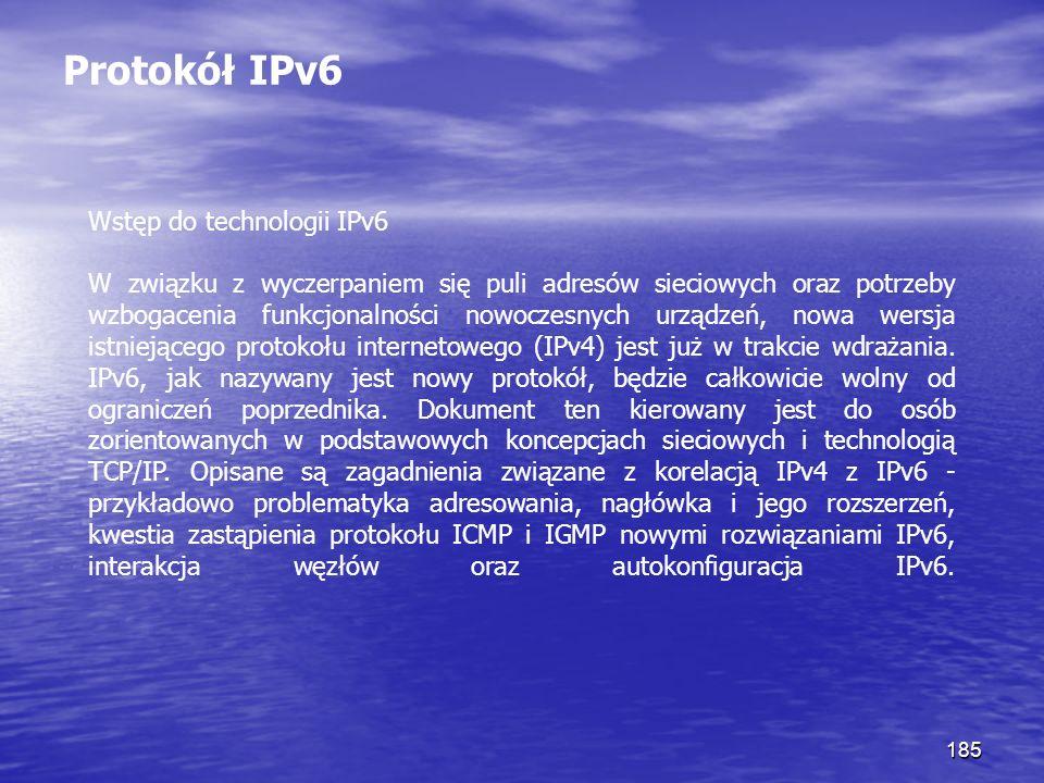 Protokół IPv6 Wstęp do technologii IPv6