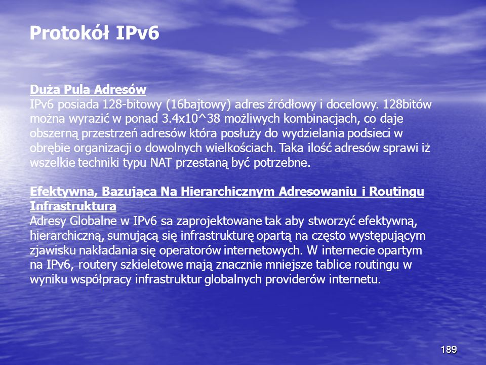 Protokół IPv6
