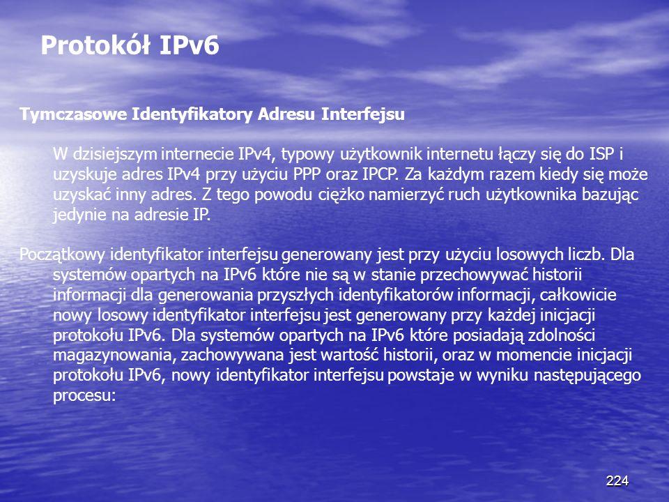 Protokół IPv6 Tymczasowe Identyfikatory Adresu Interfejsu