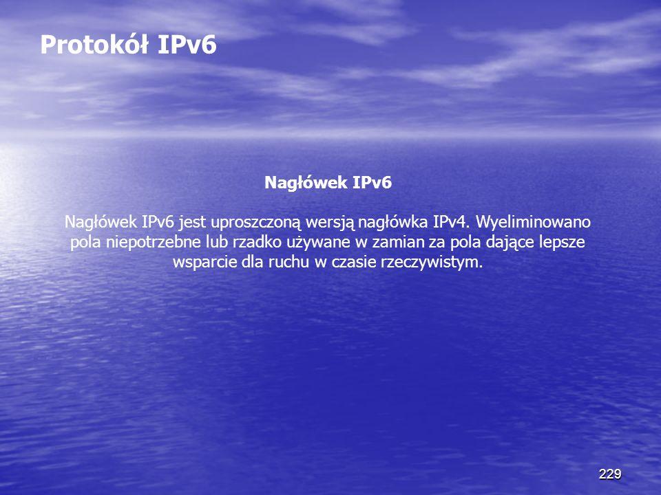 Protokół IPv6 Nagłówek IPv6