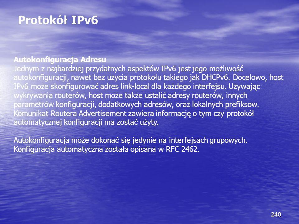 Protokół IPv6 Autokonfiguracja Adresu