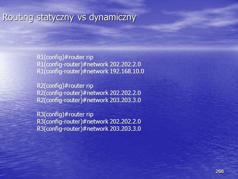 Routing statyczny vs dynamiczny