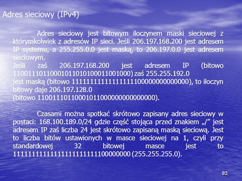 Adres sieciowy (IPv4)