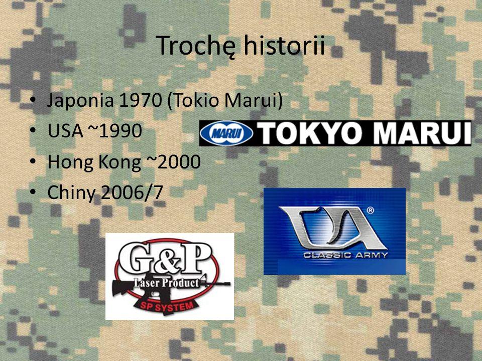 Trochę historii Japonia 1970 (Tokio Marui) USA ~1990 Hong Kong ~2000