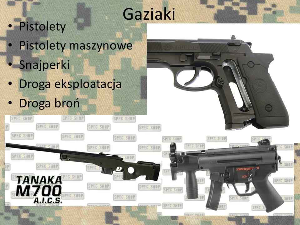 Gaziaki Pistolety Pistolety maszynowe Snajperki Droga eksploatacja