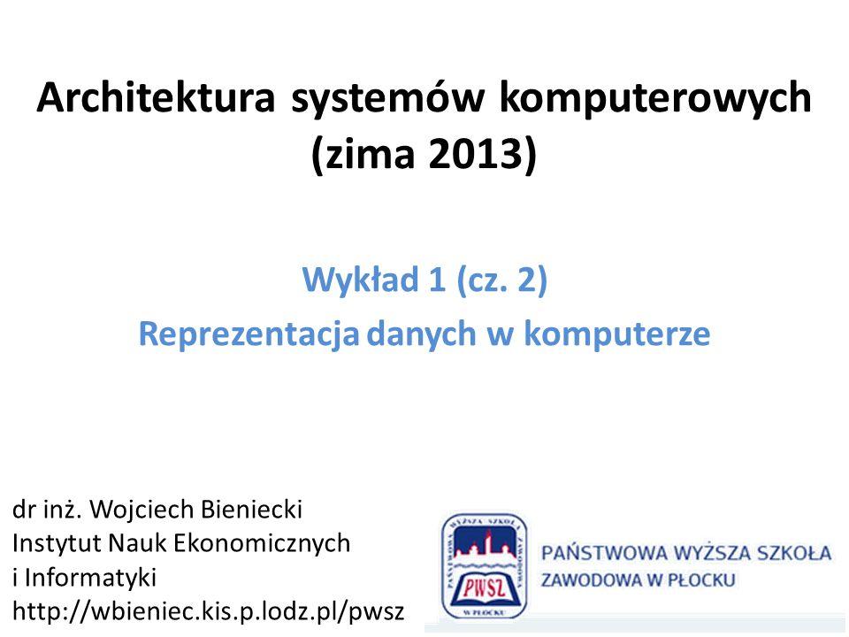 Architektura systemów komputerowych (zima 2013)
